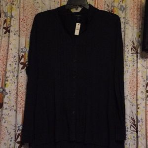 Talbots new NWT button knit shirt 2x 20 22